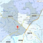 Roswell Georgia Zip Code Map
